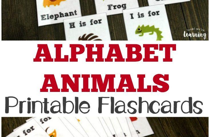 Free Printable Flashcards Alphabet Animals Cards