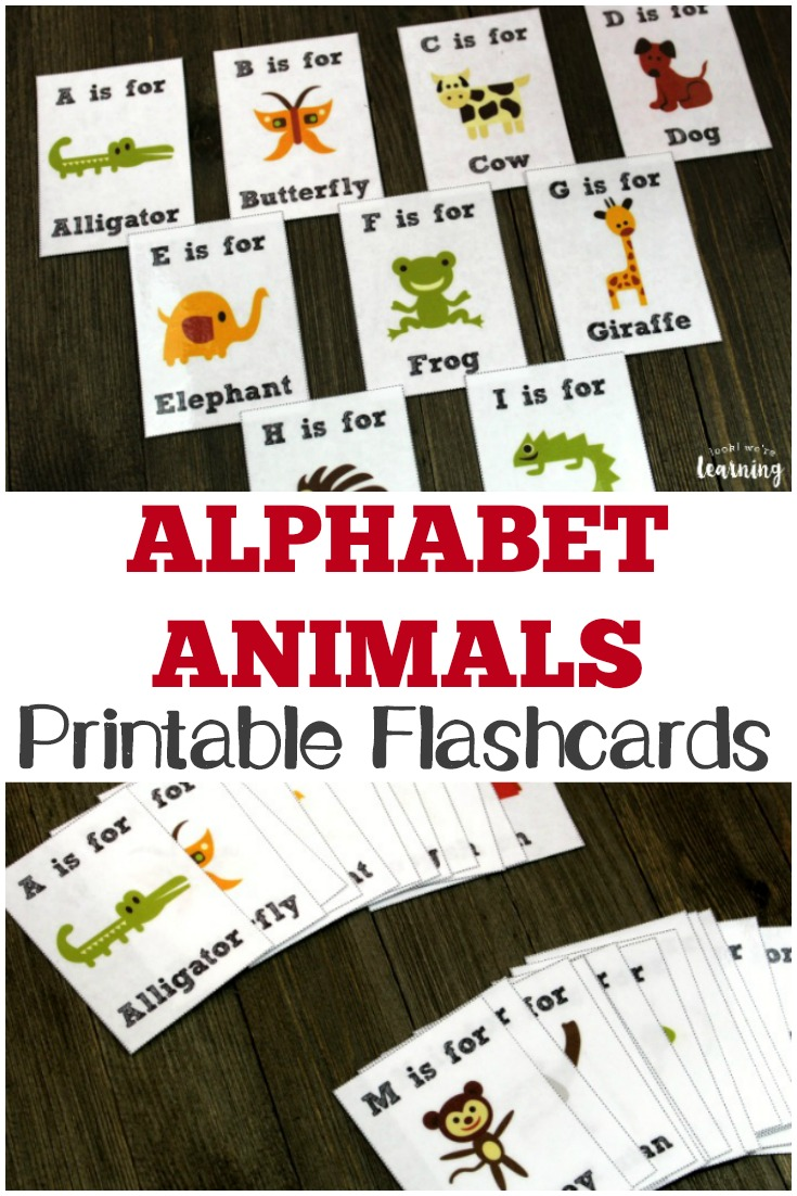 These printable Alphabet Animals flashcards are a fun way to help children practice letter recognition and learn about animals!