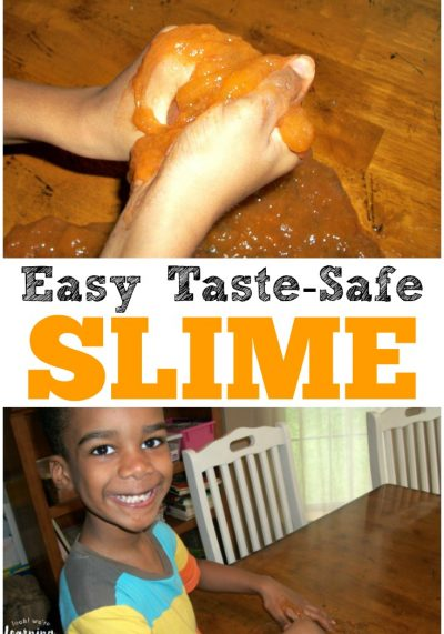 Whip up this simple taste safe slime recipe to give the kids some tasty sensory fun!