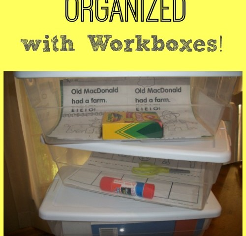 Our Homeschool Workbox Organization