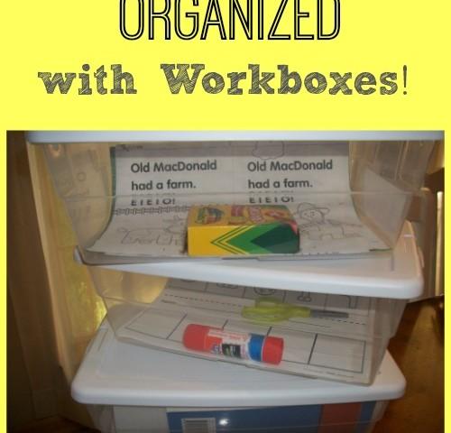 Our Homeschool Workbox Organization