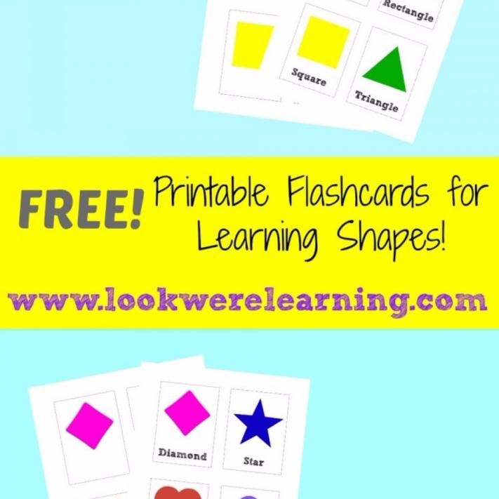 Free Printable Shape Flashcards