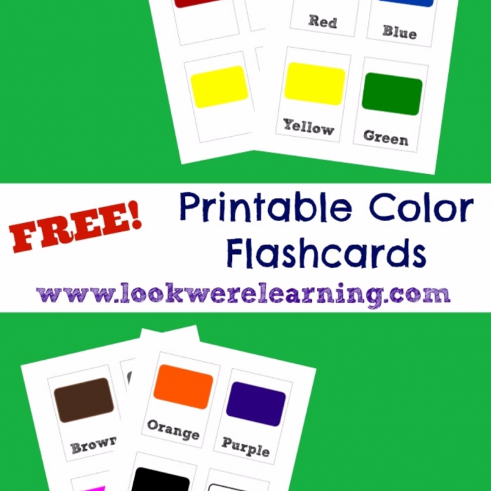 Printable Color Flashcards - Look! We're Learning!