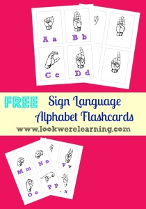 Free Printable Flashcards: Sign Language Alphabet