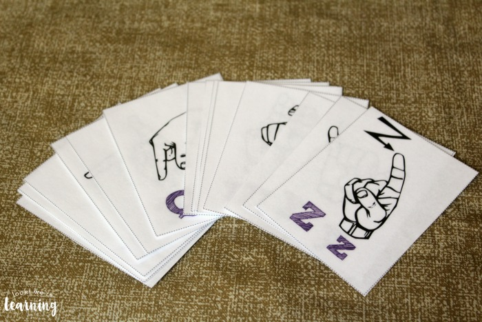 American Sign Language Alphabet Flashcards