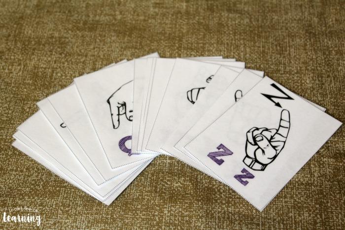 American Sign Language Alphabet Flashcards
