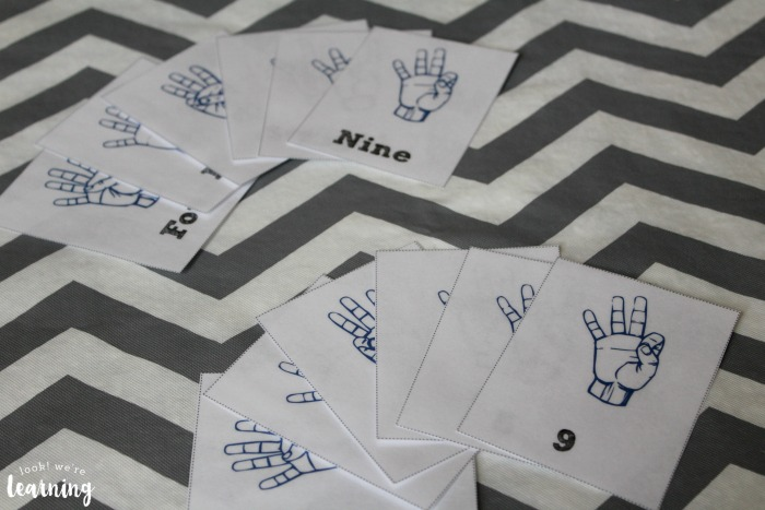 American Sign Language Number Flashcards