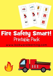 Fire Safety Smart Printable Pack - Look! We're Learning!