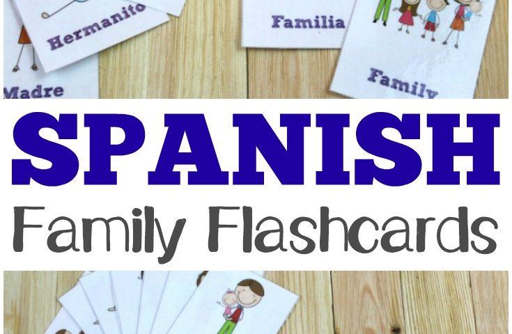 Free Printable Flashcards: Spanish Family Flashcards