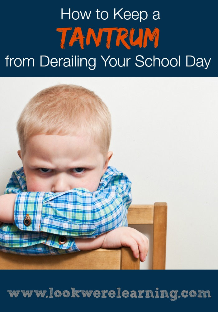 How to Keep a Homeschool Tantrum from Derailing Your School Day - Look! We're Learning!
