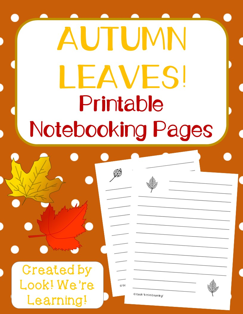 Leaf Notebooking Pages