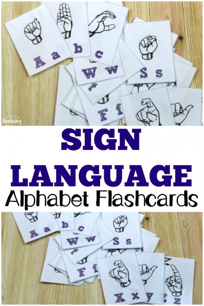 Learn how to spell in American Sign Language with these printable sign language alphabet flashcards!