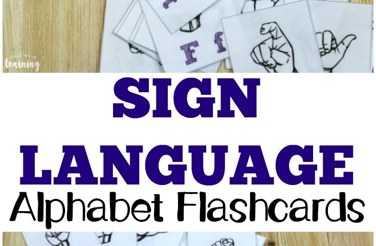 Free Printable Flashcards: Sign Language Alphabet Flashcards