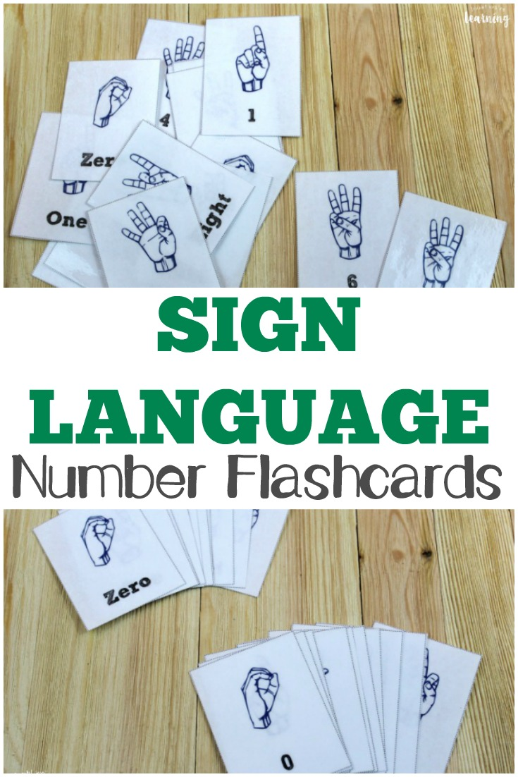 Pick up these printable sign language number flashcards to help kids learn how to count in ASL!