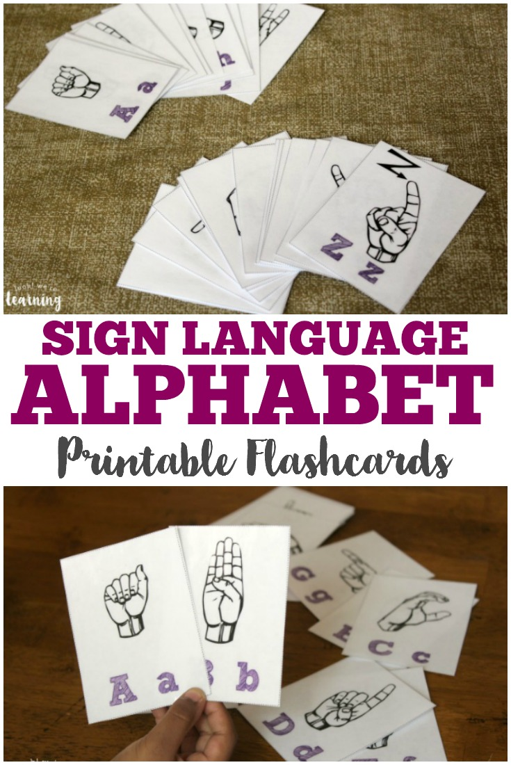 Pick up these sign language alphabet flashcards to learn how to sign your way through the alphabet in ASL!