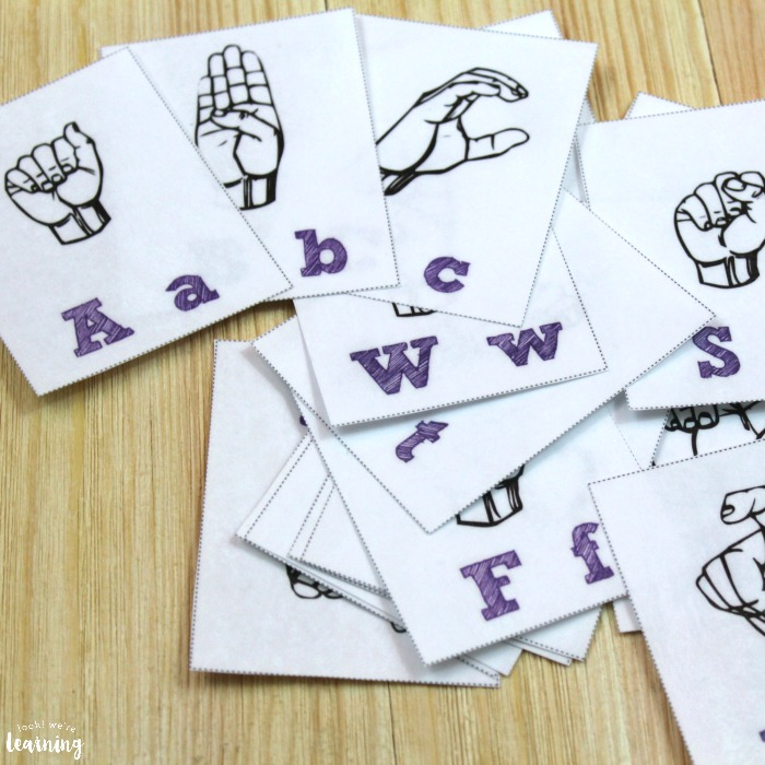 Printable ASL Alphabet Flashcards
