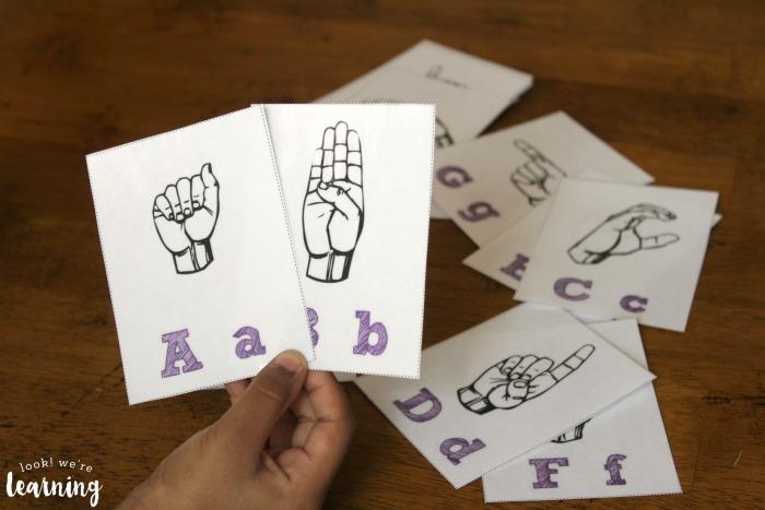 Printable ASL Alphabet Flashcards