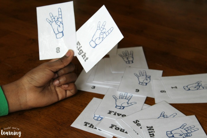 Printable ASL Number Flashcards
