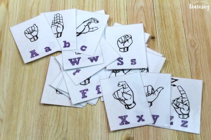 Printable American Sign Language Alphabet Flashcards