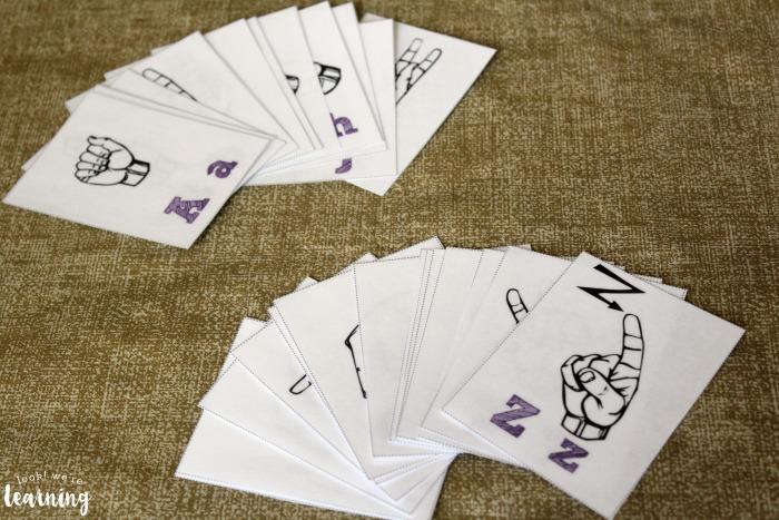 Printable Sign Language Alphabet Flashcards