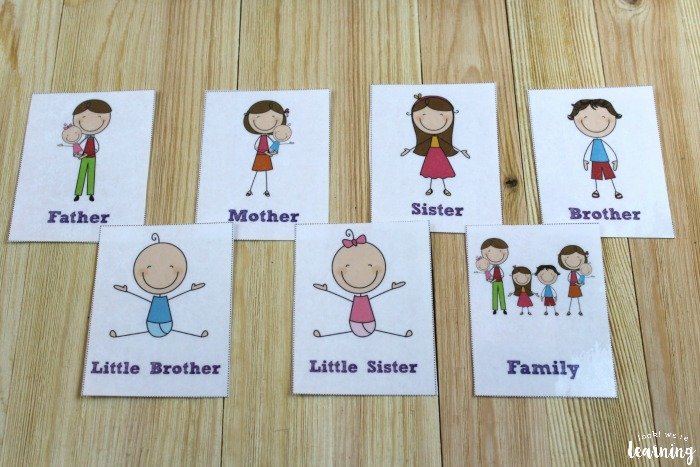 Printable Spanish Family Flashcards for Kids