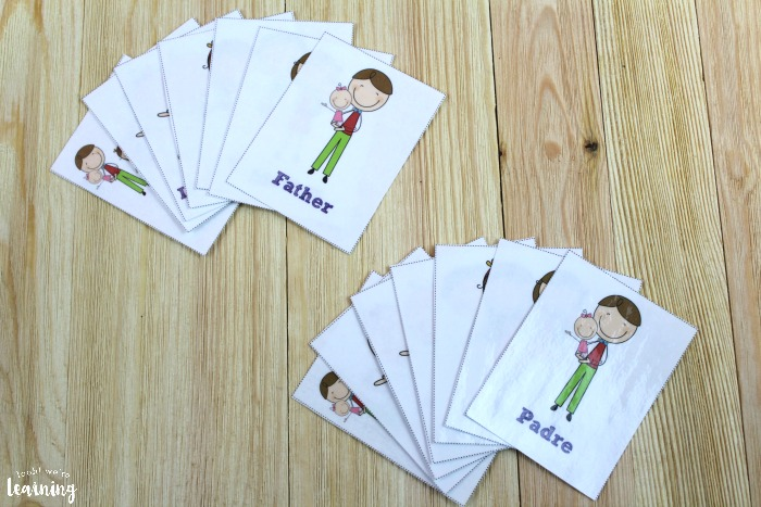 Printable Spanish Family Flashcards