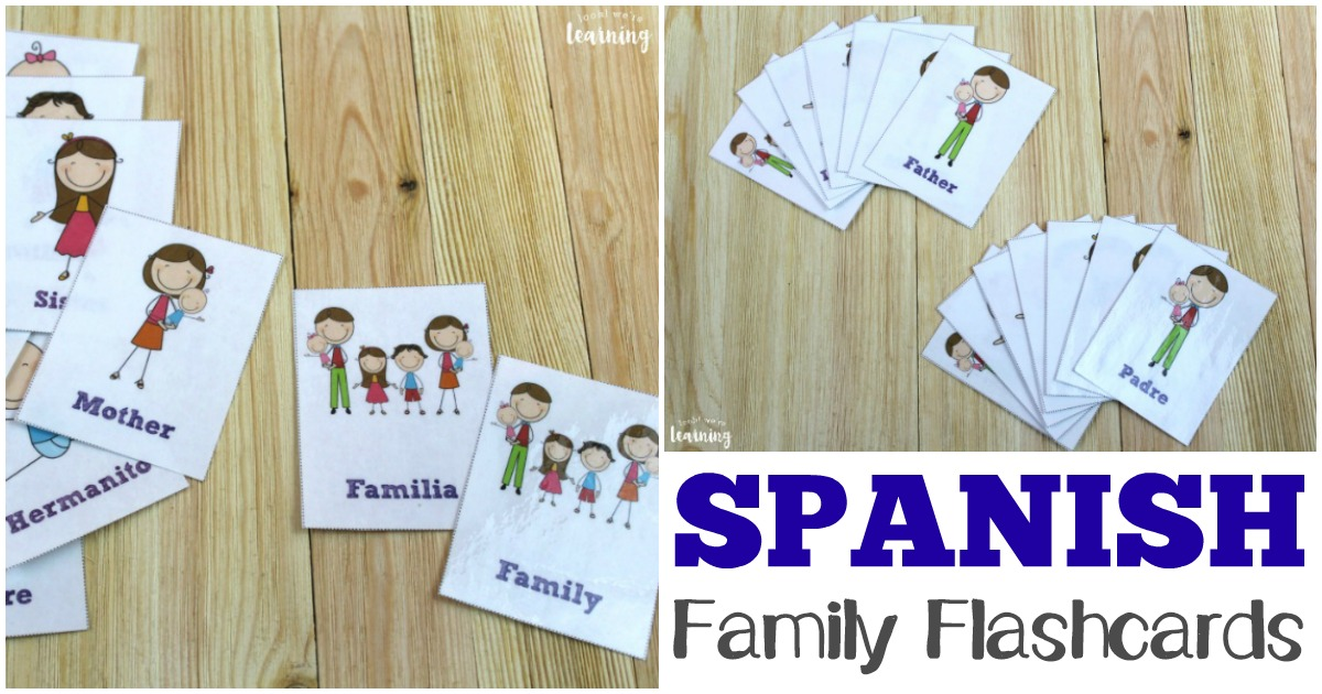 Printable Spanish Family Vocabulary Flashcards