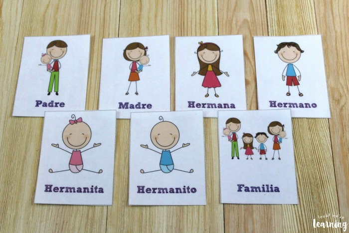 Printable Spanish Family Word Flashcards