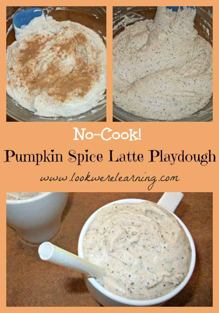 Pumpkin Spice Latte No Cook Playdough - Look! We're Learning!