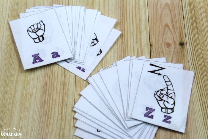 Sign Language Alphabet Flashcards for Learning the ASL Alphabet