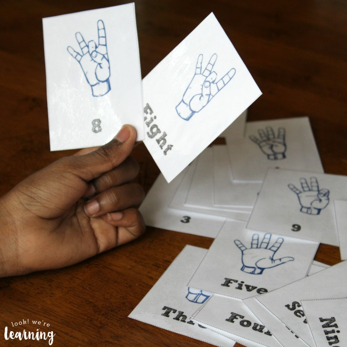 Sign Language Number Flashcards