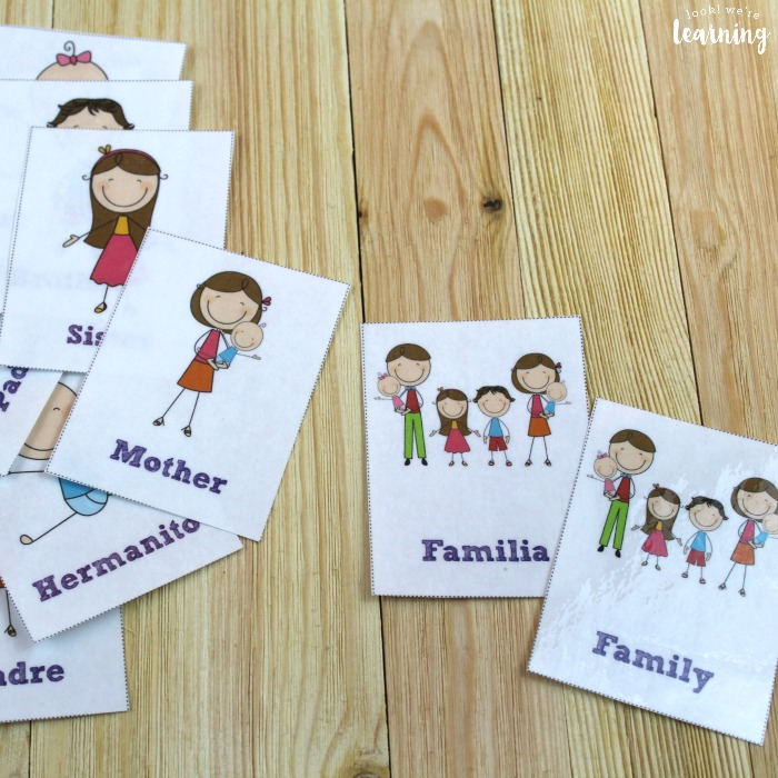 Spanish Family Flashcards for Kids