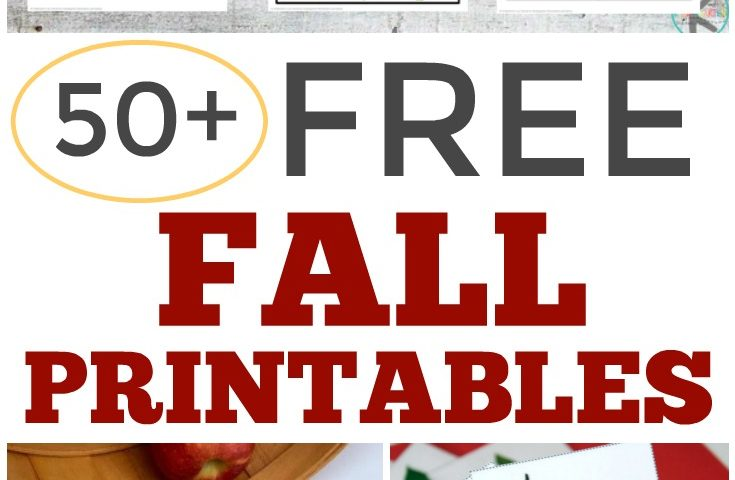 Over 50 Free Fall Printables for Kids