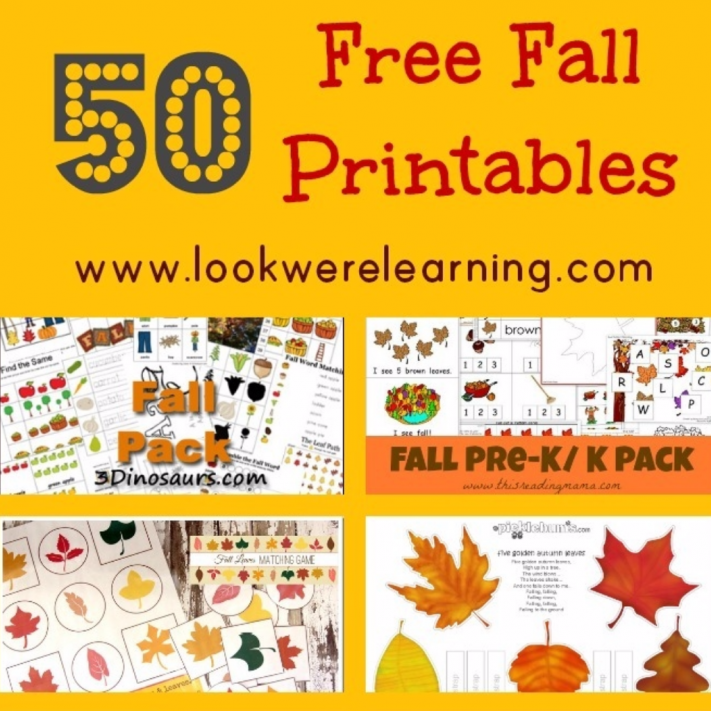 Free Fall Printables for Kids - Look! We're Learning!