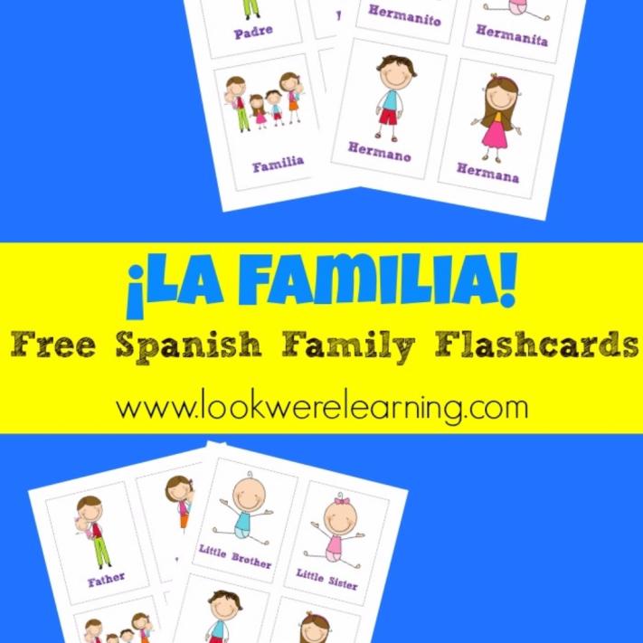 Printable Spanish Flashcards: Spanish Family Flashcards