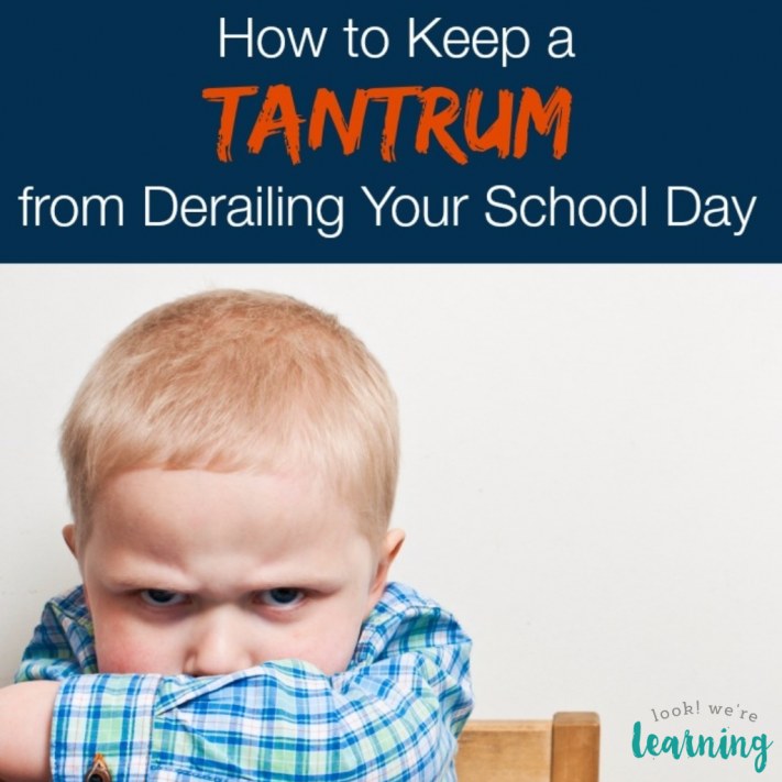 How to Keep a Homeschool Tantrum from Derailing Your Day
