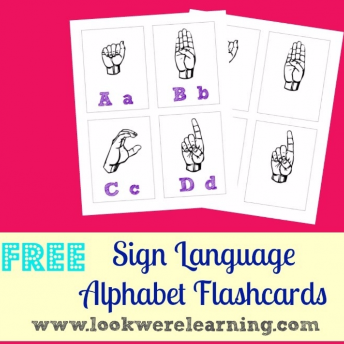 Sign Language Alphabet Flashcards - Look! We're Learning!