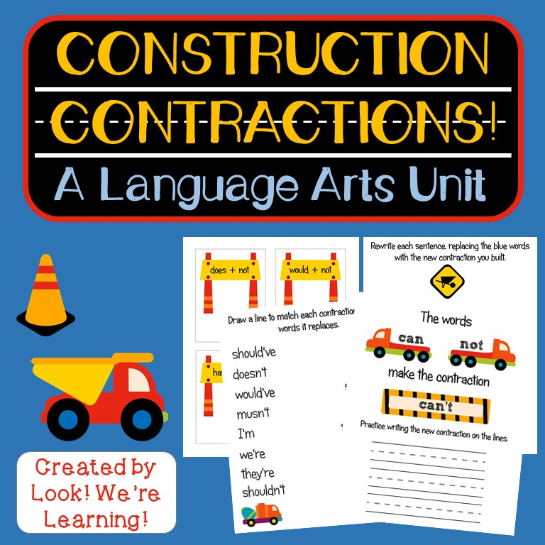 Construction Contractions Language Arts Unit