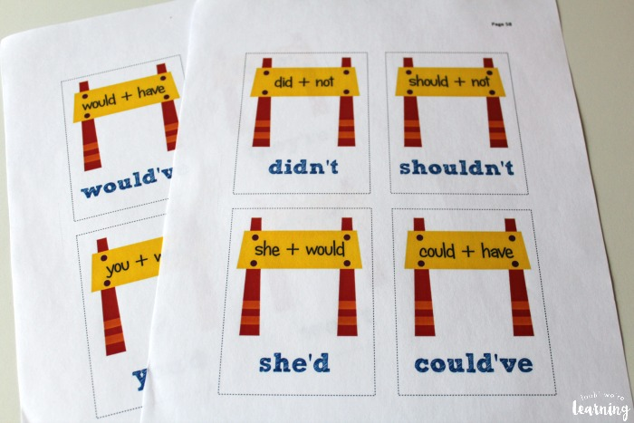 Construction Themed English Contractions Lesson for Kids
