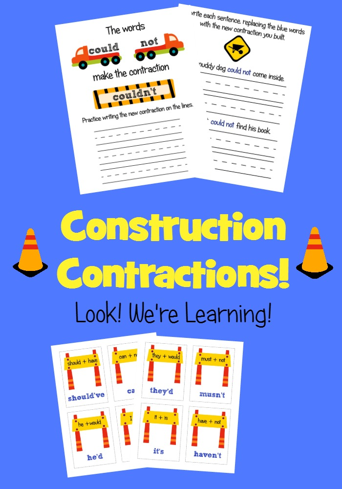Construction Contractions Language Arts Pack - Look! We're Learning!