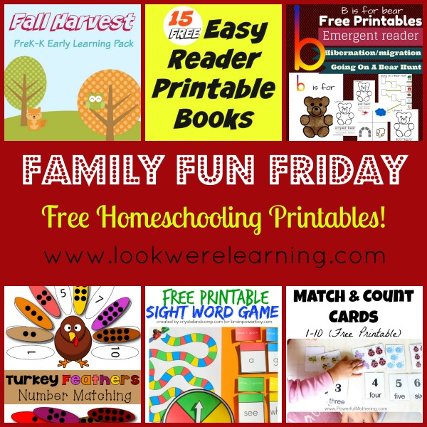 Free Homeschooling Printables - Look! We're Learning!