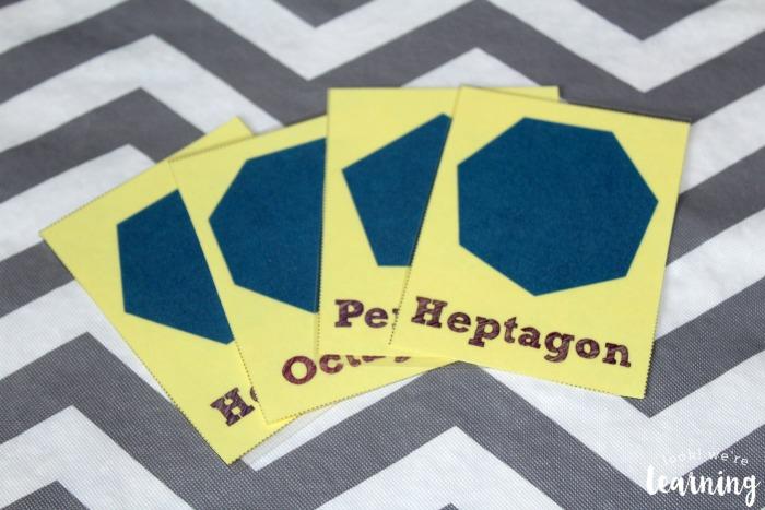 Free Printable Polygon Flashcards for Kids