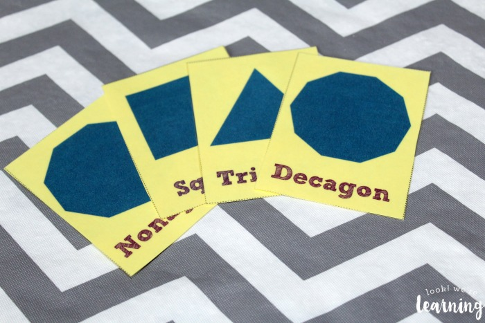 Free Printable Polygon Flashcards
