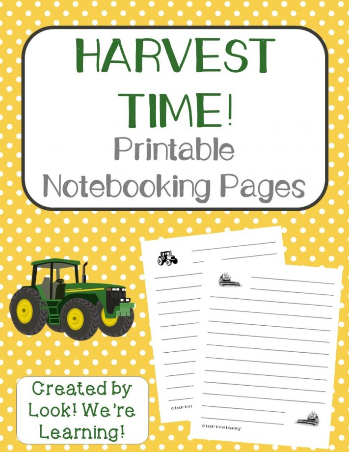 Harvest Notebooking Pages