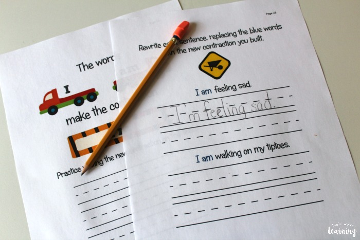 Learning English Contractions with Kids