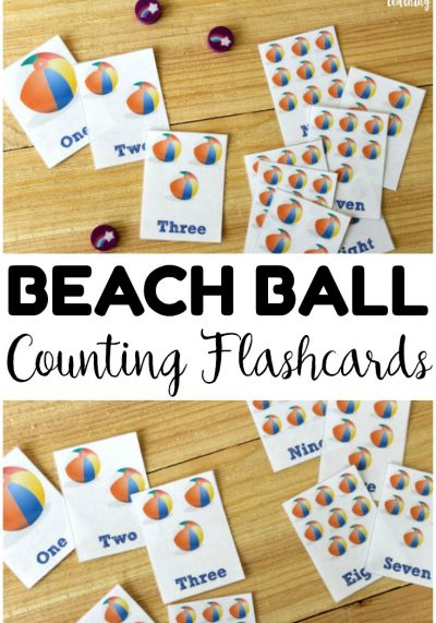 Pick up these free printable counting flashcards to help kids learn to count to ten this summer!