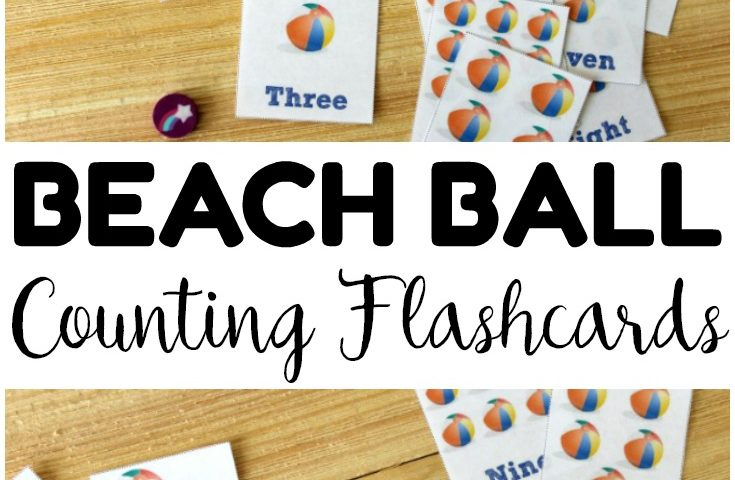 Free Printable Flashcards: Counting Beach Balls