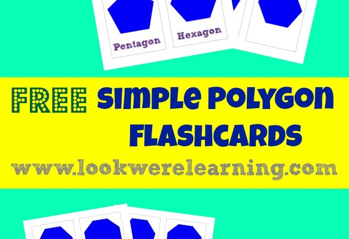 Free Printable Flashcards: Polygons
