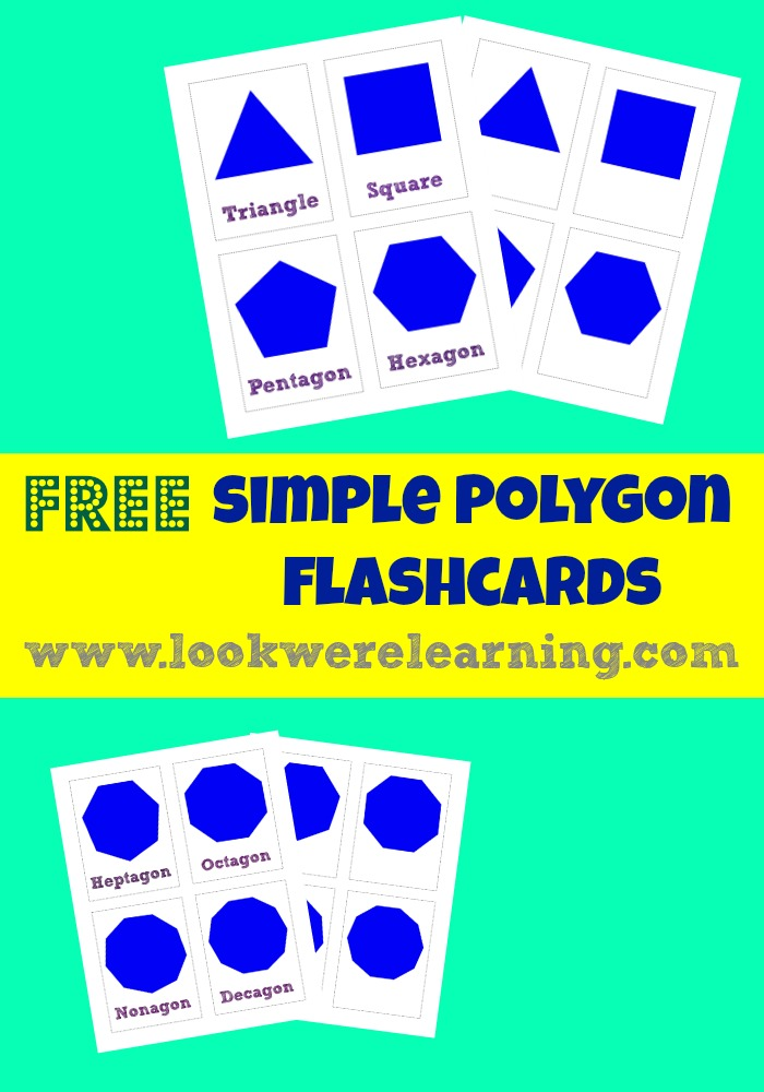 These free printable polygon flashcards are awesome for teaching basic geometry to kids!