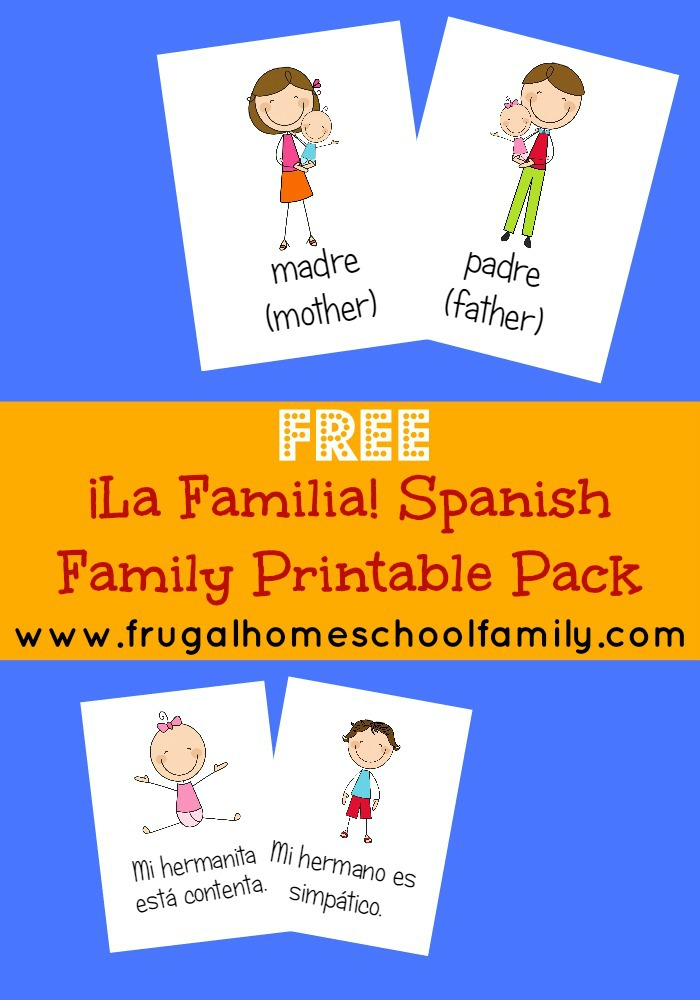 Free Spanish Family Words Worksheet Pack - Look! We're Learning!